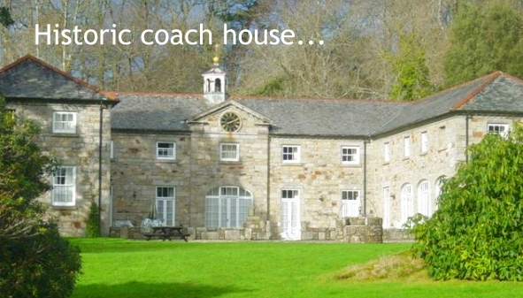 The historic coach house next to Clowance House