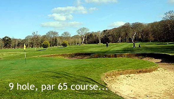 9 hole, par 65 private golf course for use by Clowance guests